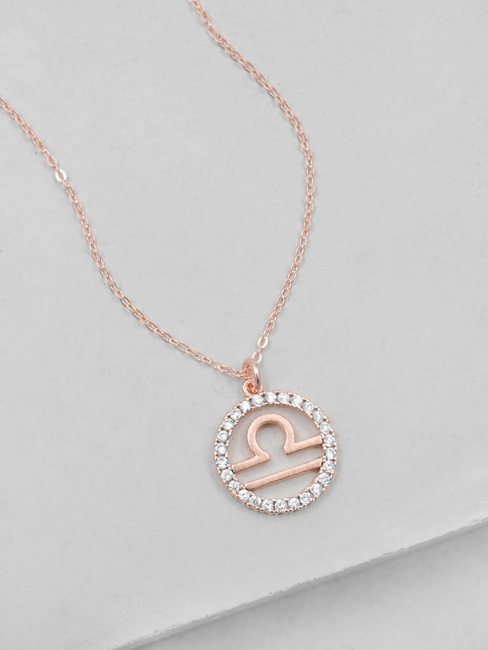 Sparkle Zodiac Rose Gold Necklace by The Faint Hearted Jewelry