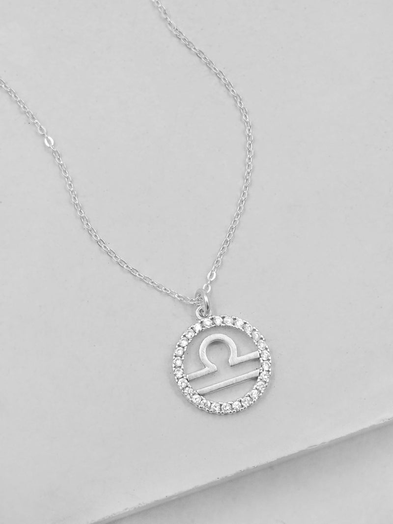 Sparkle Zodiac Necklace - Silver