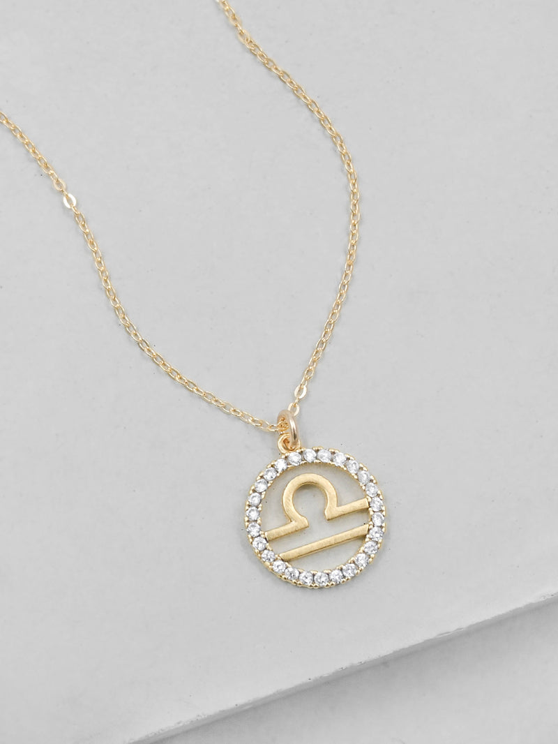 Gold Plated Sparkle Zodiac Necklace by The Faint Hearted Jewelry