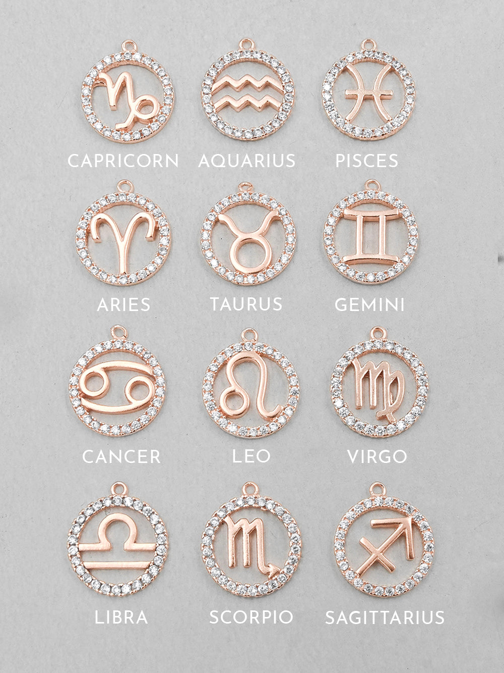 Rose Gold Horoscope Necklace by The Faint Hearted Jewelry