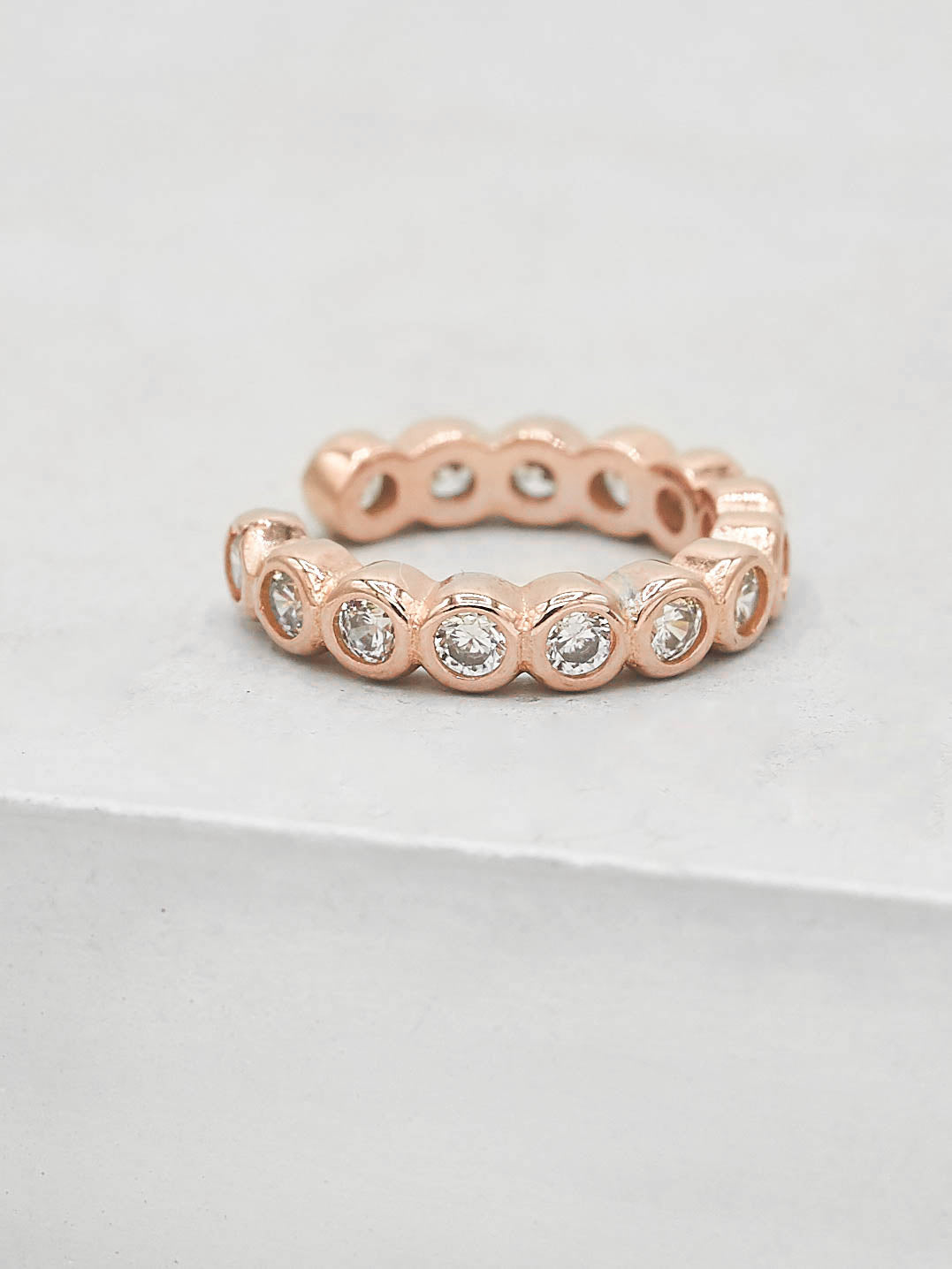 No Piercing Bezel Ear Cuff - Rose Gold