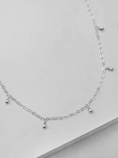 Bohemian Dangle Necklace - Silver