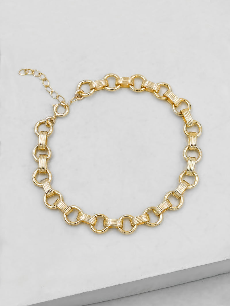 Disco Bracelet - Gold Filled
