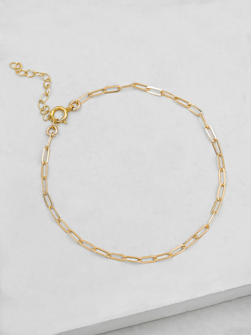 Mini Paperclip Bracelet - Gold Filled