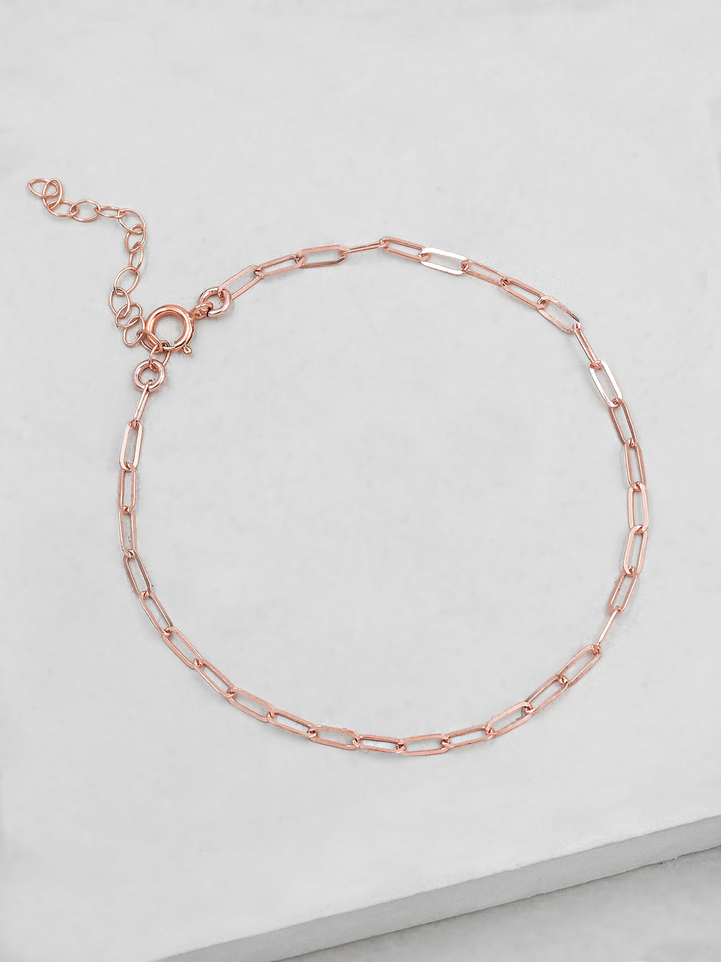 Mini Paperclip Bracelet - Rose Gold Filled