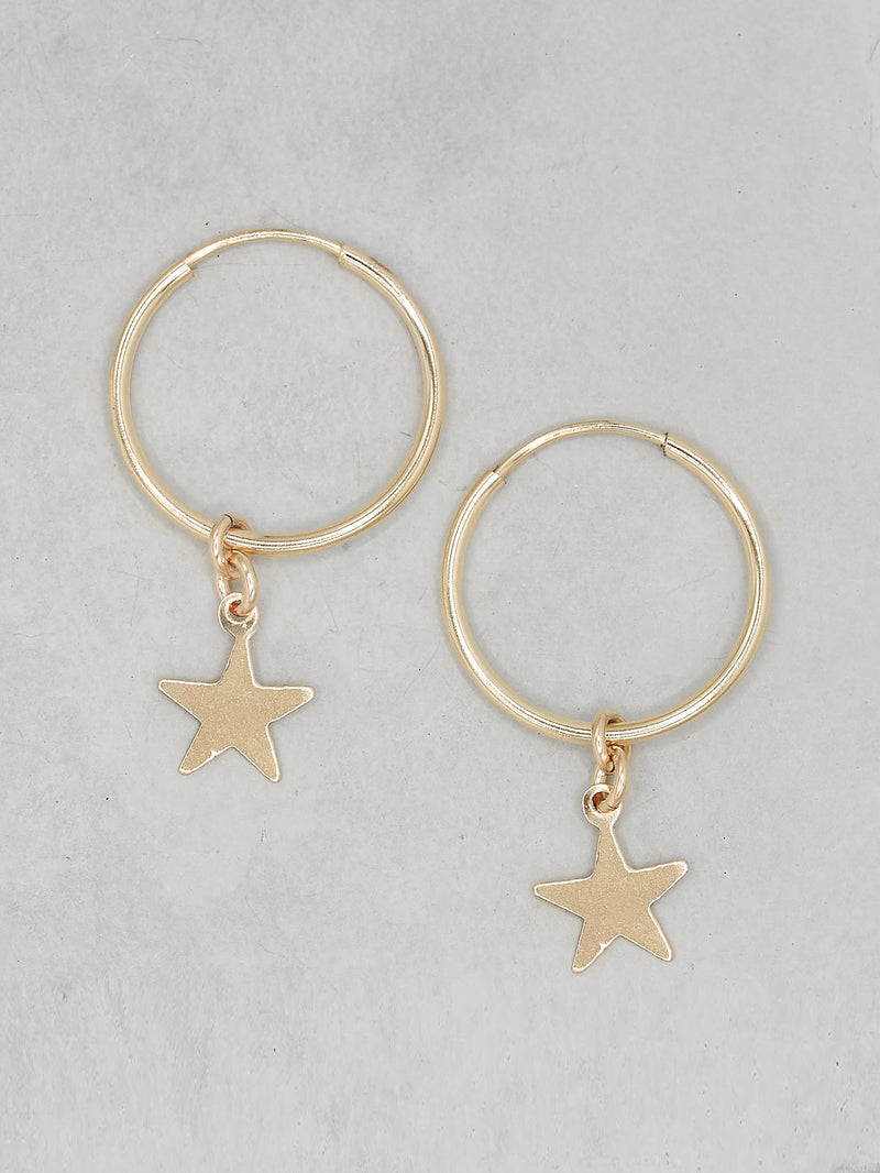 Star Charm Hopp Dangling Earrings by The Faint Hearted Jewelry