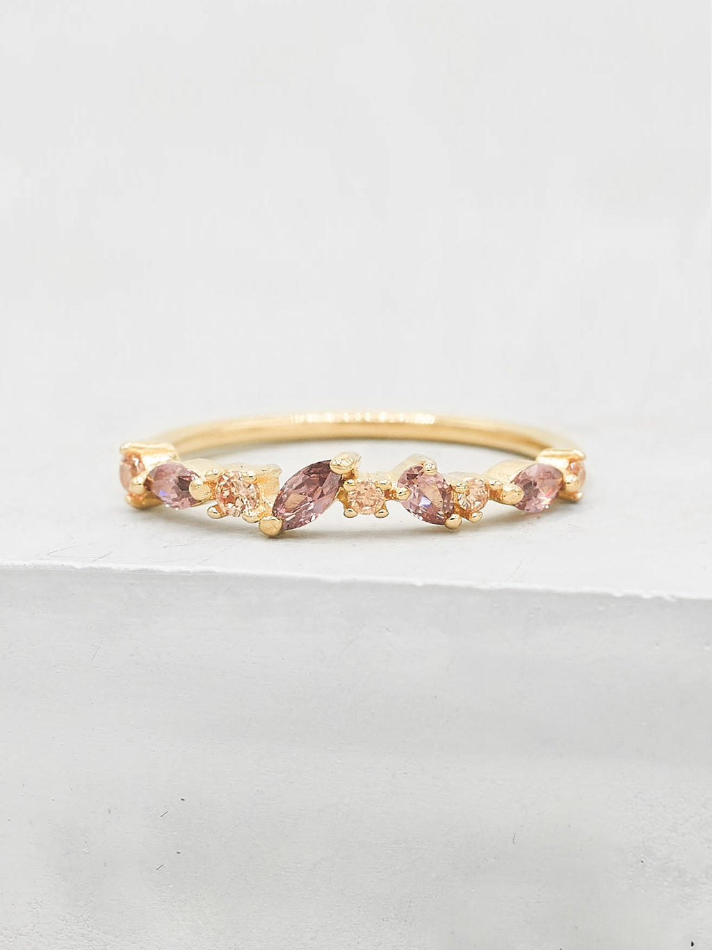 Cluster Ring - Gold + Pink