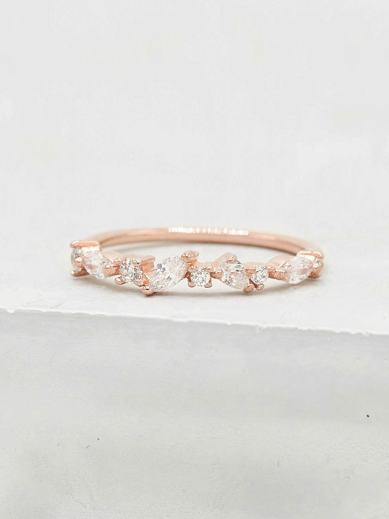 Cluster Ring - Rose Gold