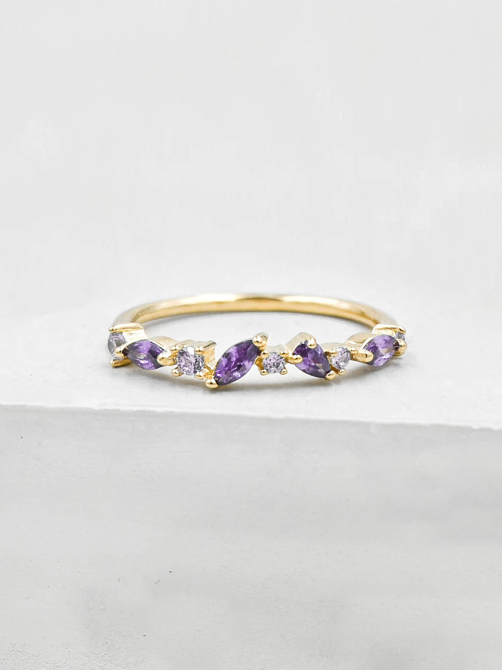 Cluster Ring - Gold + Purple
