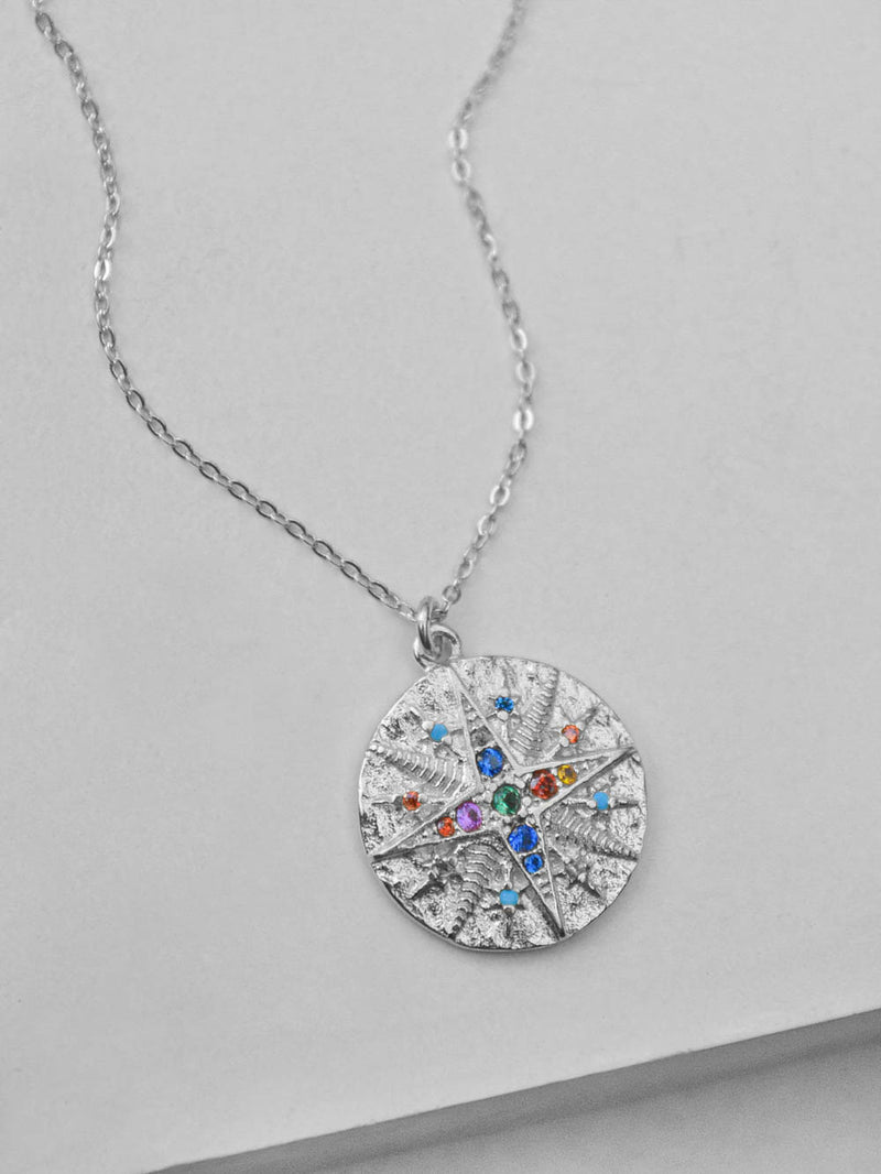 Silver Compass Necklace  by The Faint Hearted Jewelry