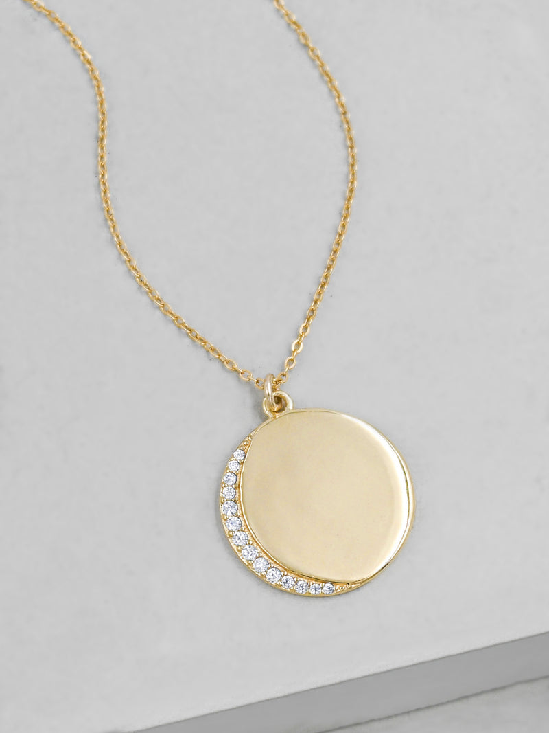 Customizable Crescent Moon - Gold