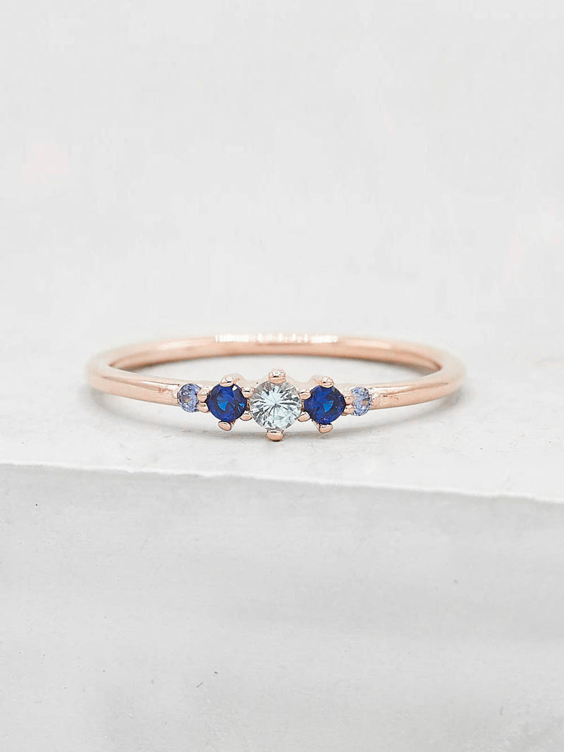 Crown Ring - Blue