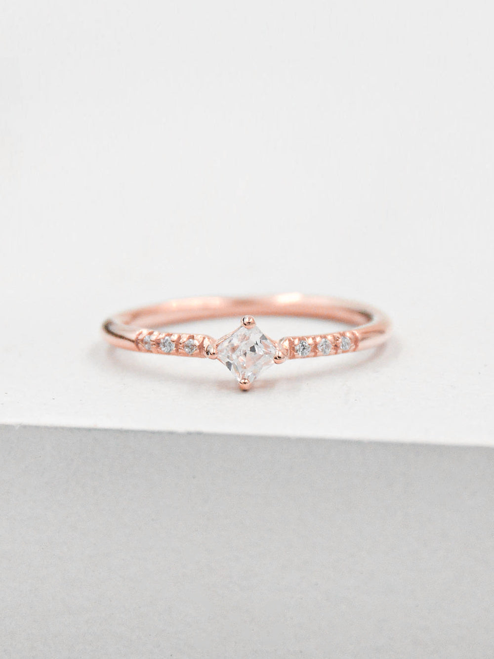 Diamond Shaped Ring - Rose Gold