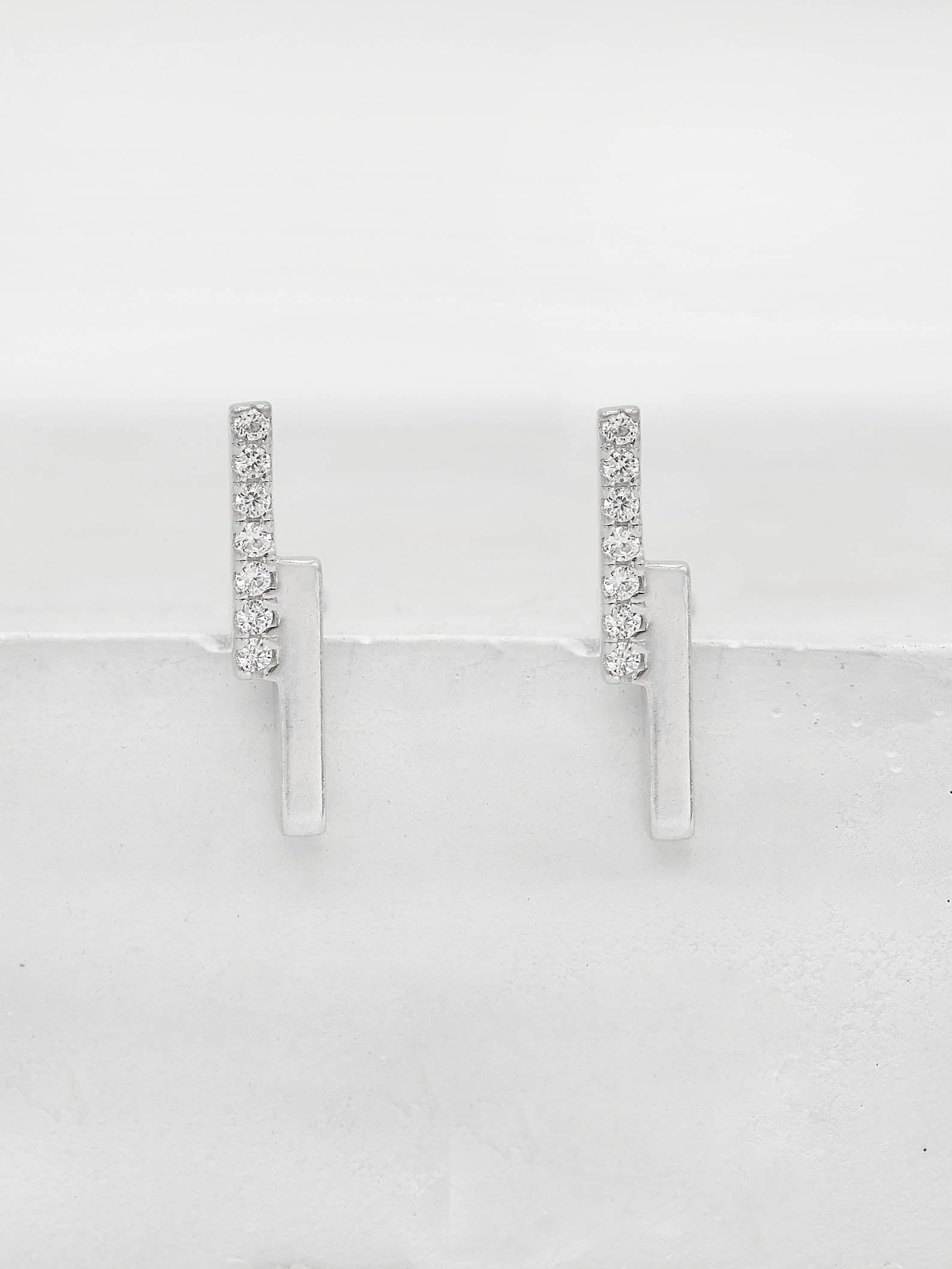 Double Bar Studs - Silver