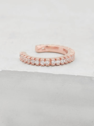 Mini Bezel Eternity Band - Silver + Ruby
