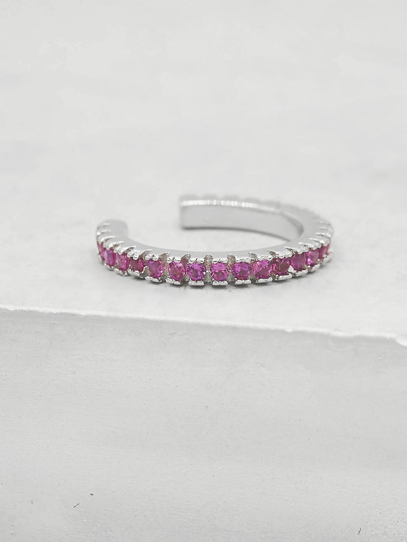 No Piercing Eternity Ear Cuff - Pink