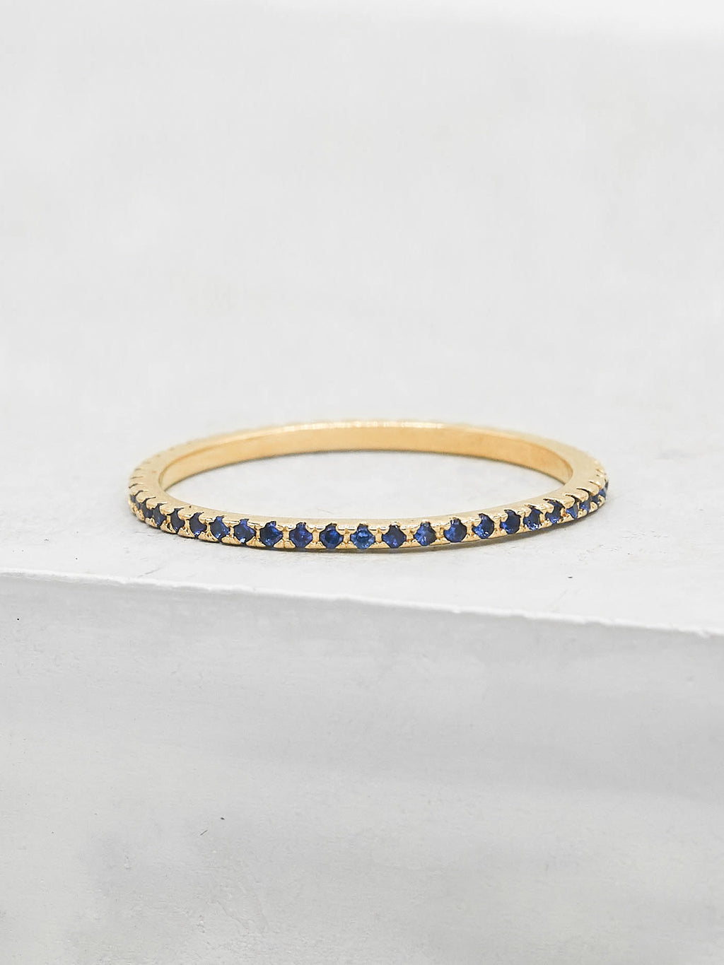 Eternity Ring - Gold + Sapphire