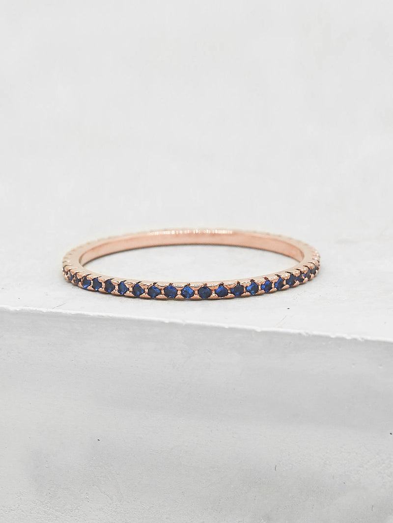 Eternity Ring - Rose Gold with Sapphire