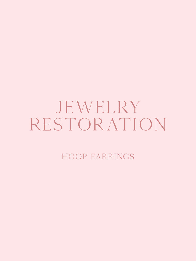 Jewelry Restoration - Hoop Earrings