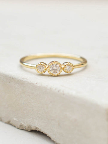 Eternity Ring Set - Gold with Black