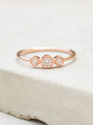 Halo Ring - Rose Gold