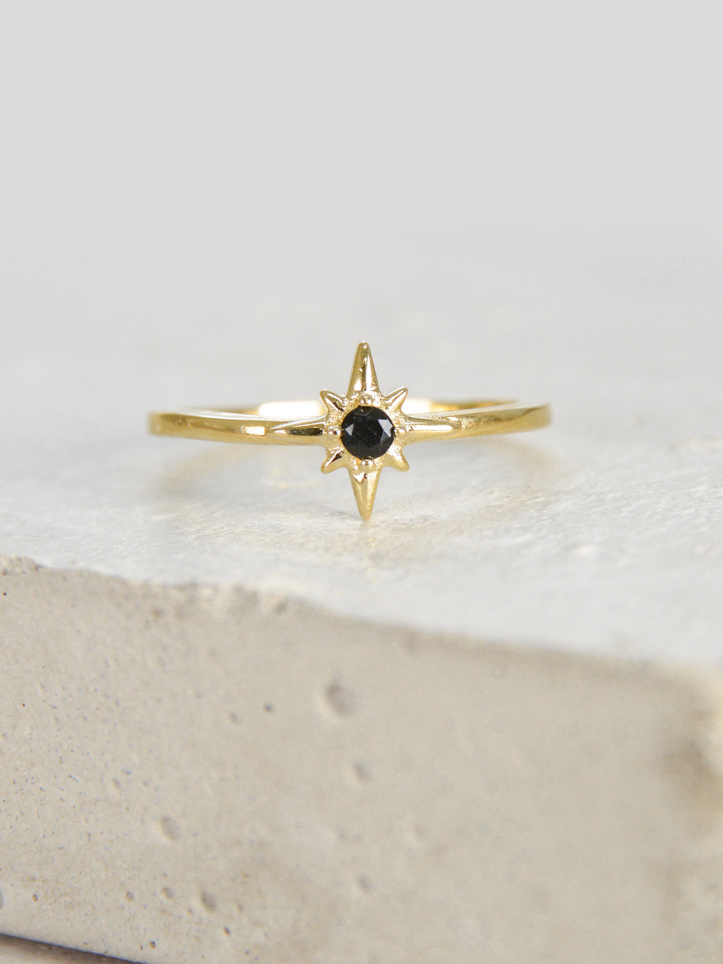 Gold North Star Stacking Ring by The Faint Hearted Jewelry