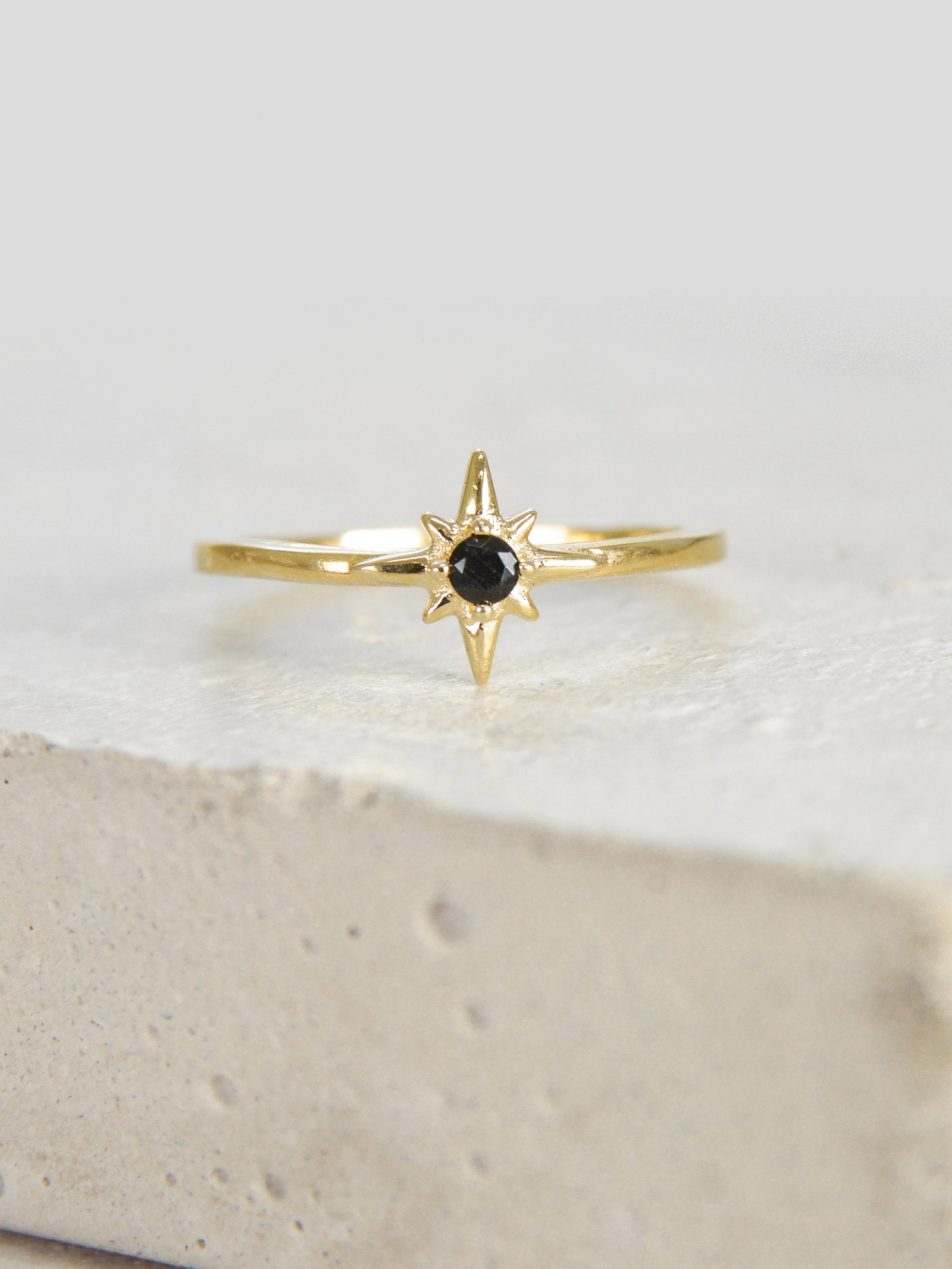 North Star Ring - Gold/Black