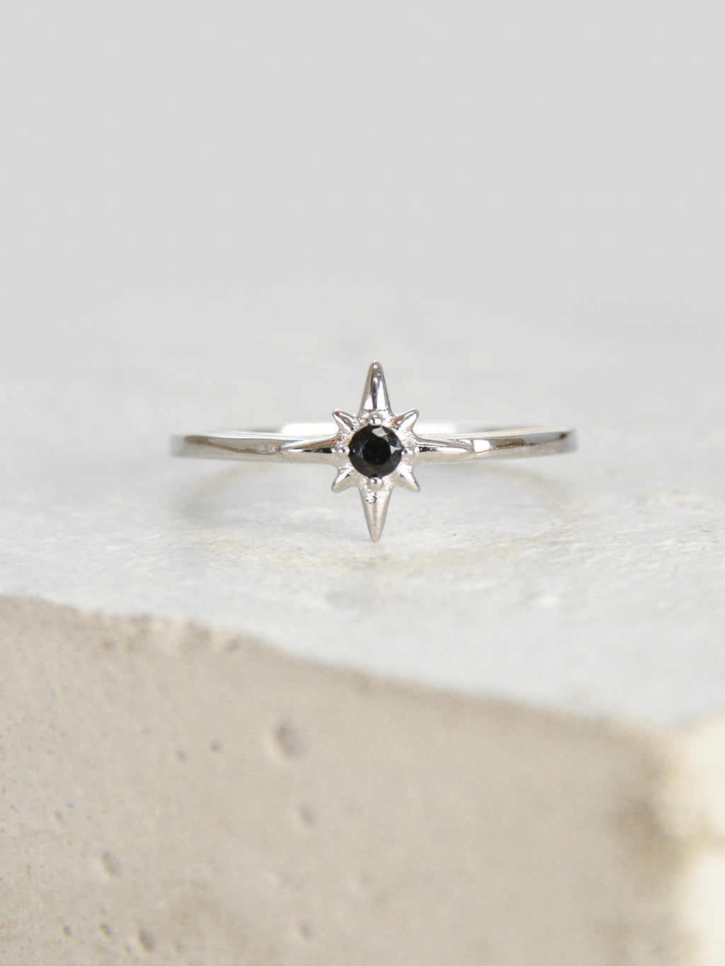 Silver North Star Stacking Ring by The Faint Hearted Jewelry