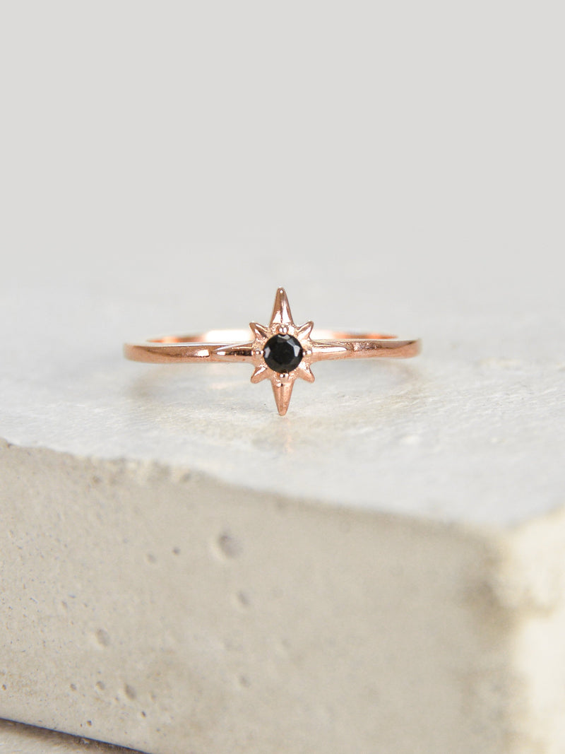 Rose Gold North Star Stacking Ring by The Faint Hearted Jewelry