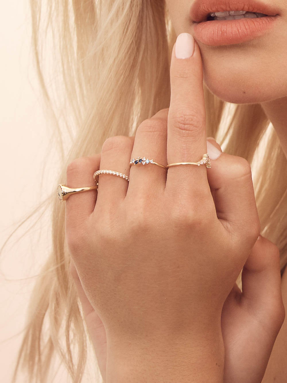 CZ Twilight Dainty Gold Ring by The Faint Hearted Jewelry