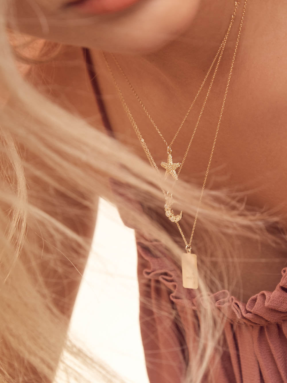 Starfish Necklace - Gold