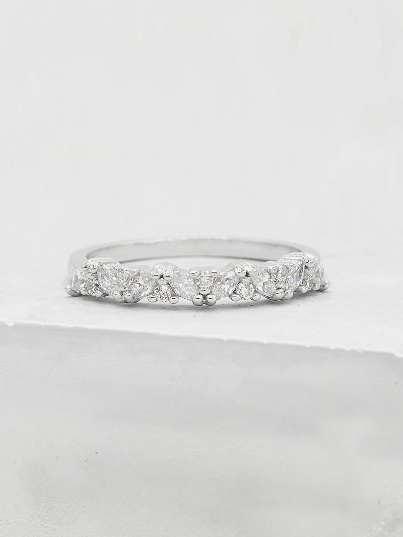 Marquise Eternity Ring - Silver