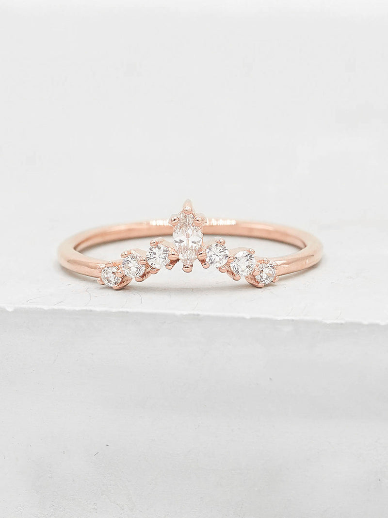 Marquise V Ring - Rose Gold