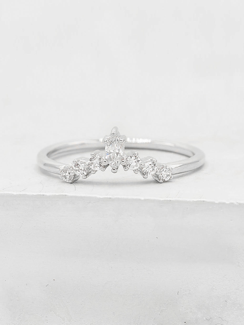 Marquise V Ring - Silver