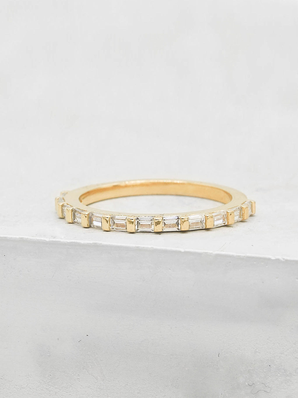 Mini Baguette Eternity Band - Gold