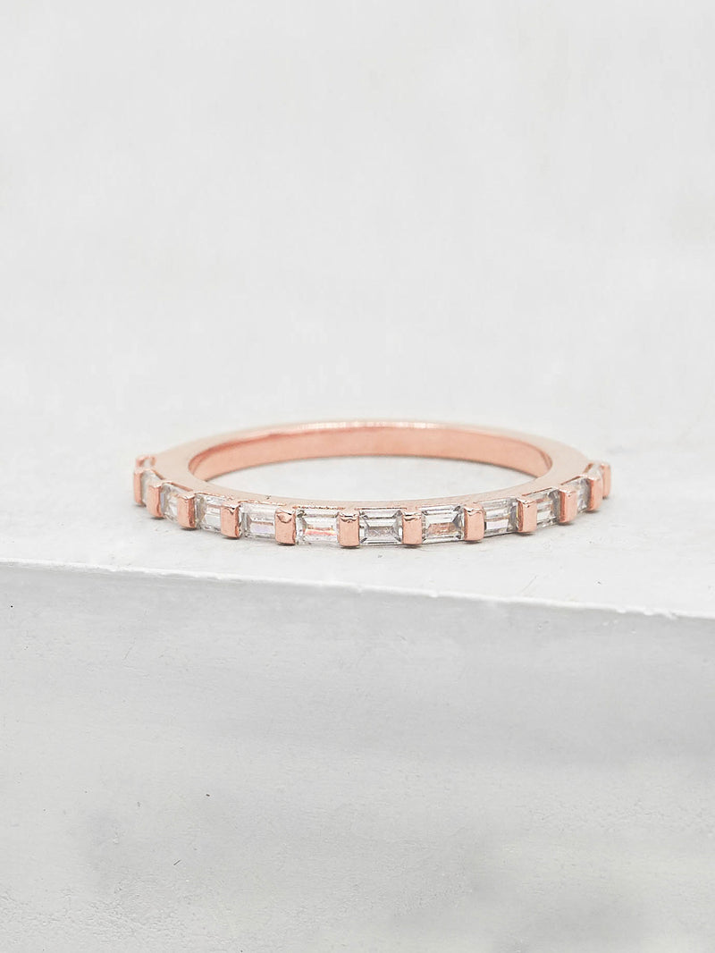 Mini Baguette Eternity Band - Rose Gold