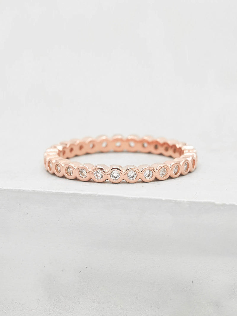 Mini Bezel Eternity Band - Rose Gold