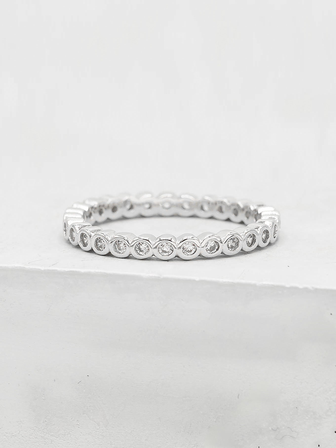 Mini Bezel Eternity Band - Silver
