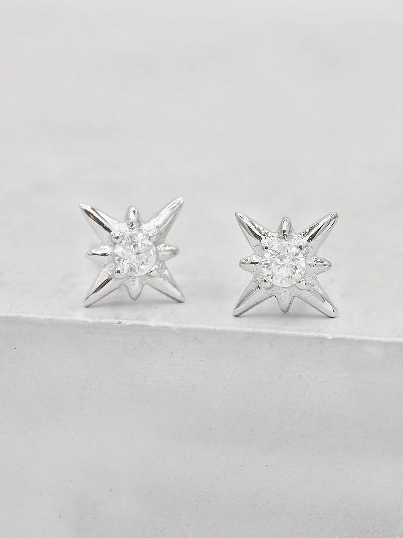 North Star Studs - Silver