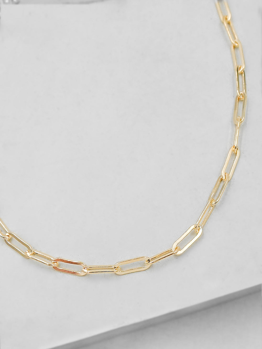 Paperclip Gold Choker Necklace  by The Faint Hearted Jewelry