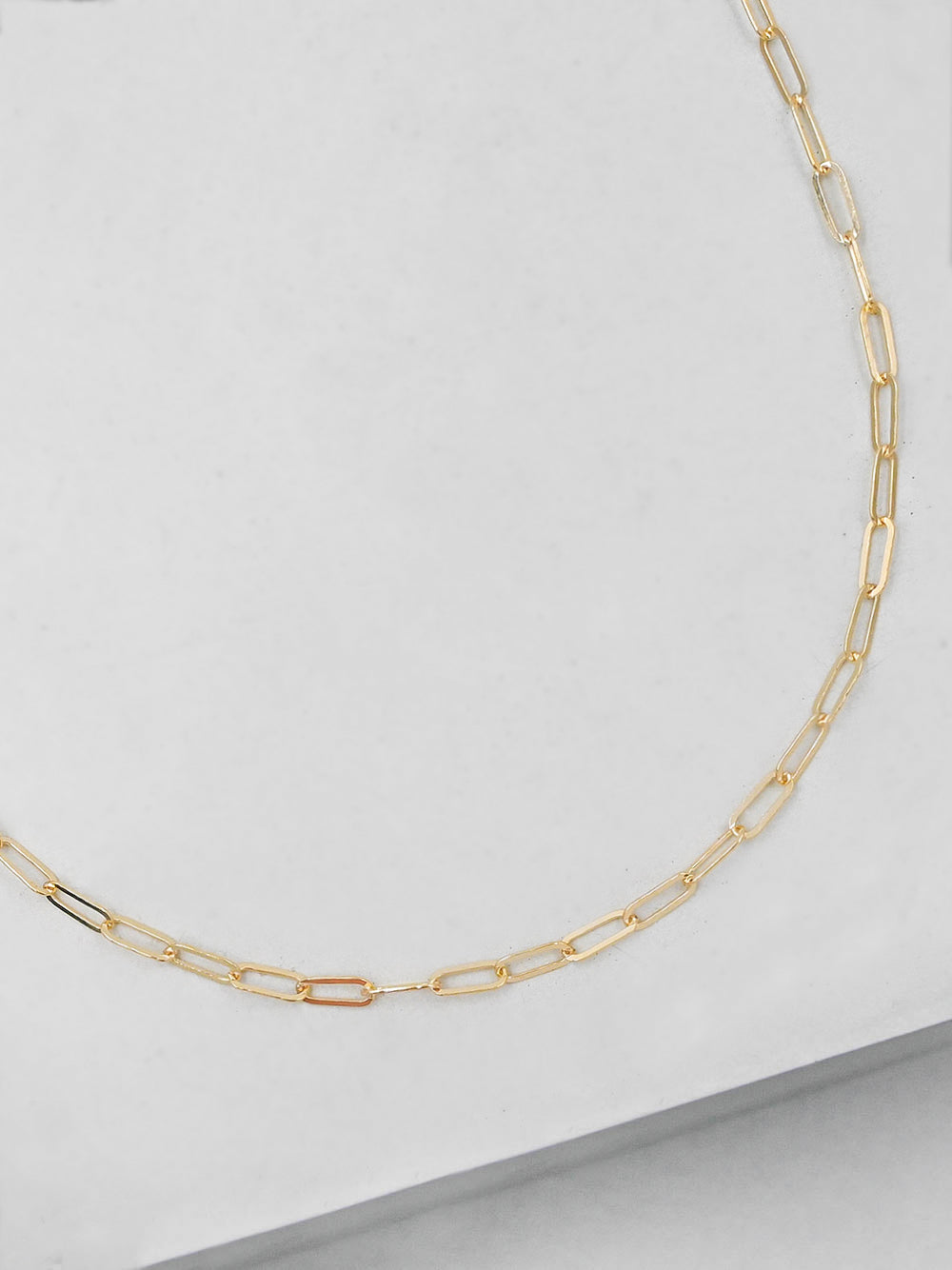 Mini Paperclip Gold Necklace  by The Faint Hearted Jewelry