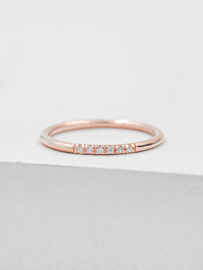 Petite Stacking Ring - Rose Gold