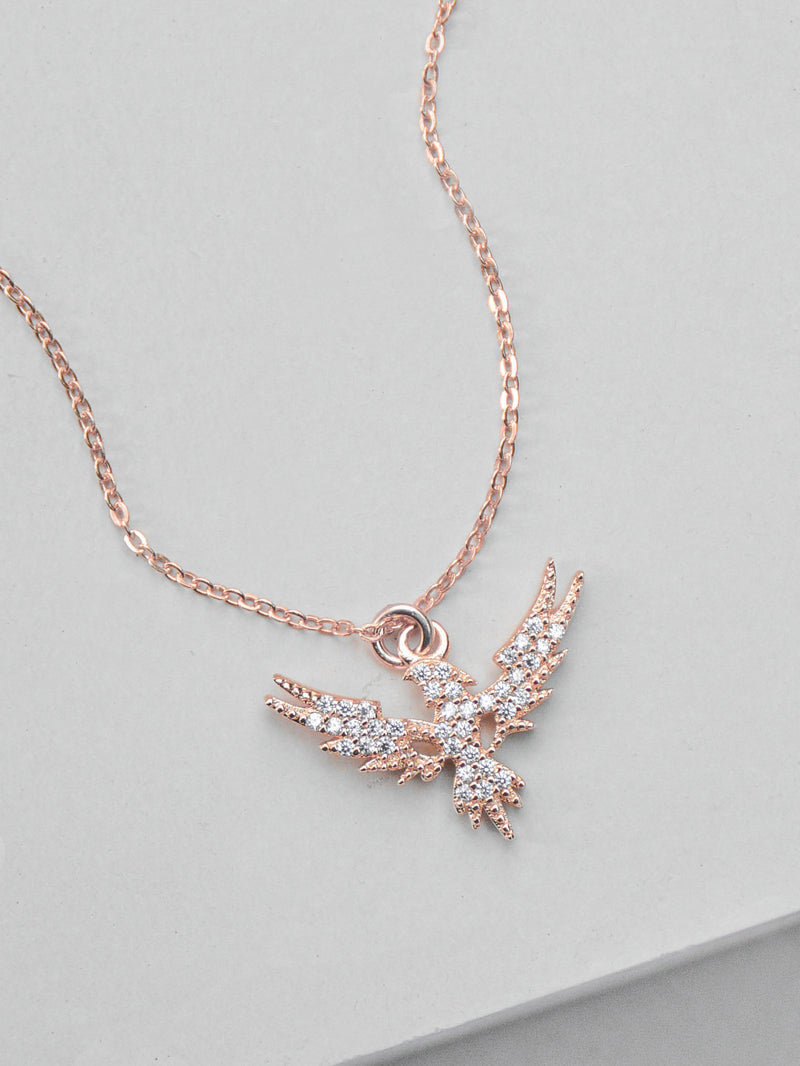Phoenix Necklace - Rose Gold