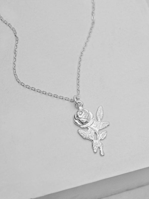 Rose Necklace - Silver