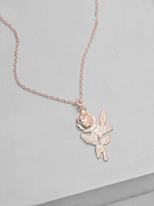 Rose Necklace - Rose Gold