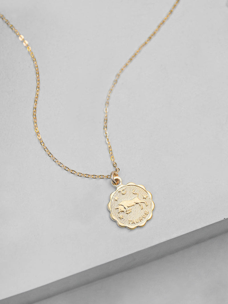 Small Zodiac Charm Necklace by The Faint Hearted Jewelry