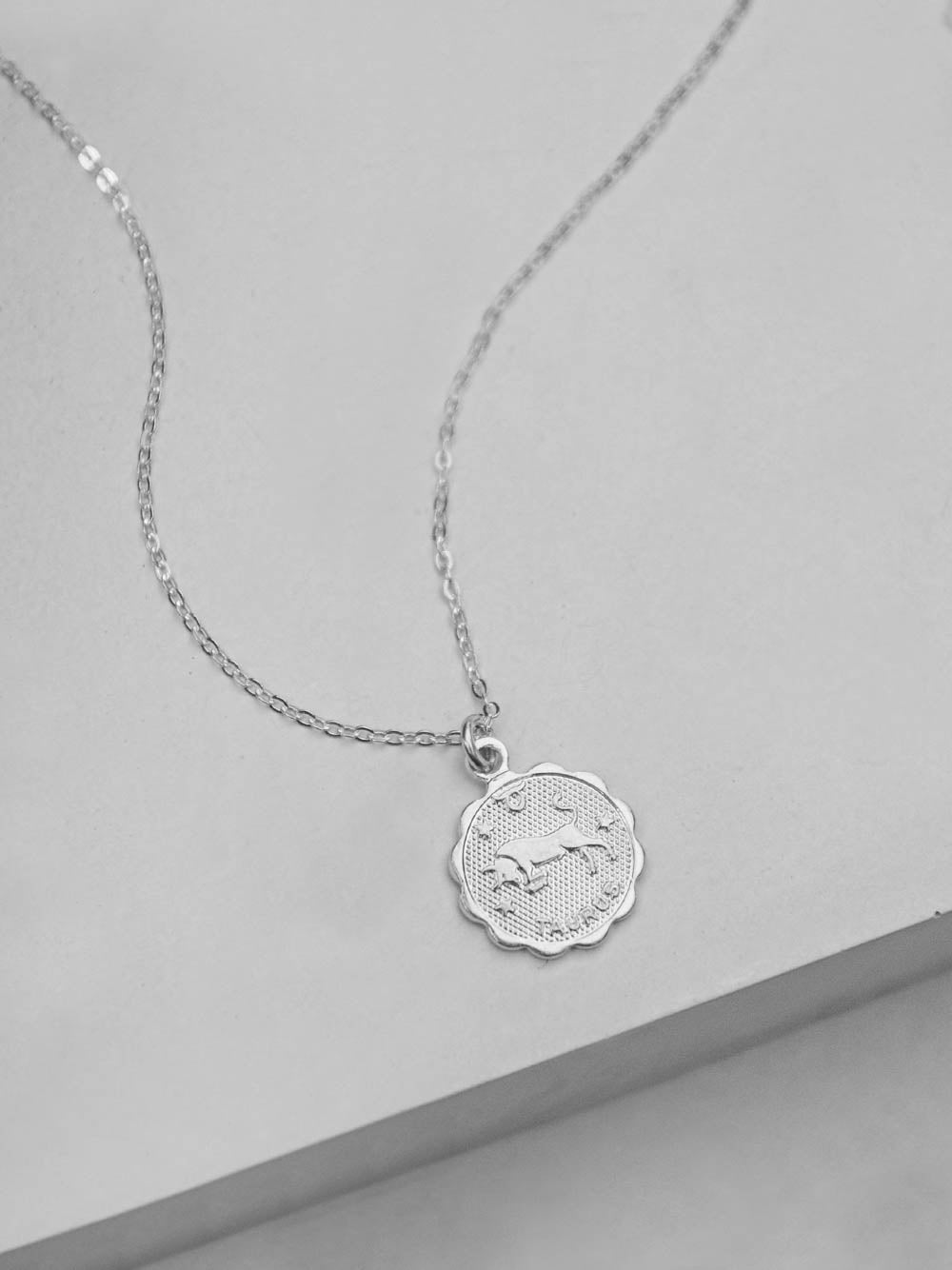 Silver Zodiac Necklace by The Faint Hearted Jewelry