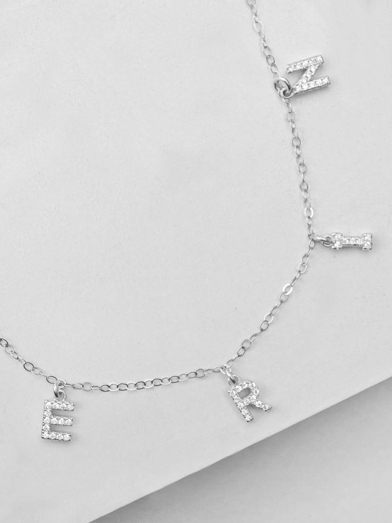 Sparkle Name Necklace - Silver