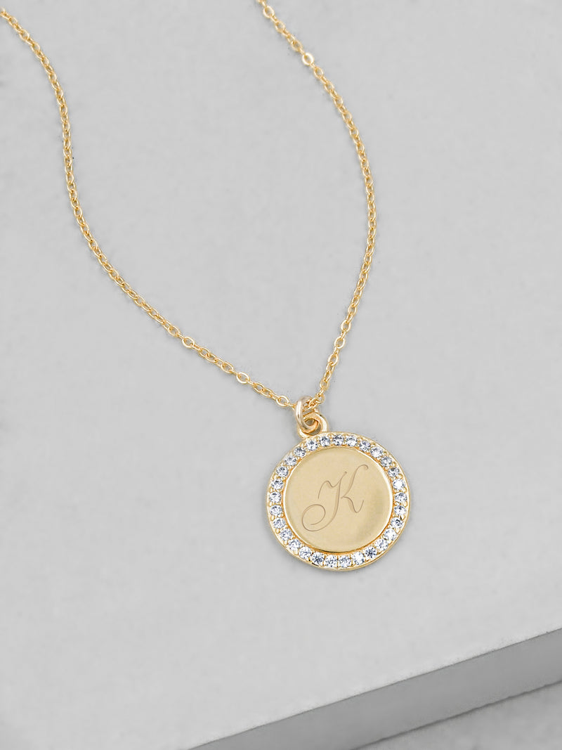 Sparkle Name Coin Necklace - Gold