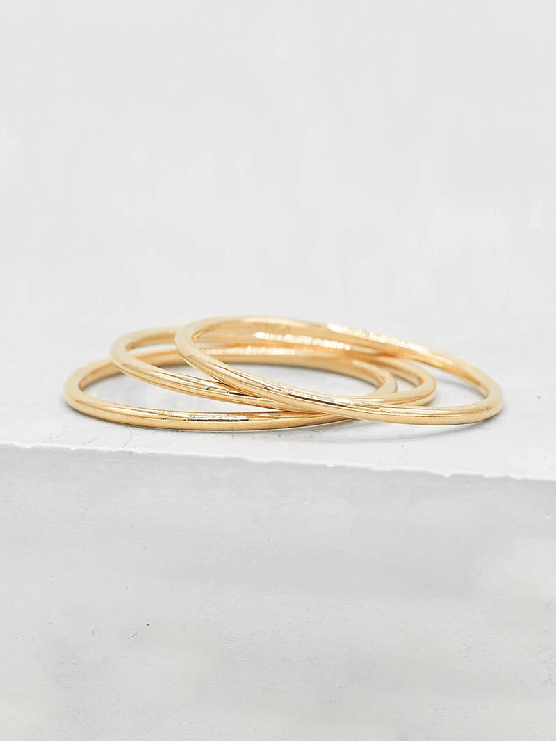 Stacking Rings Gold Filled 1mm by The Faint Hearted Jewelry
